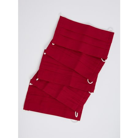 Kids Red Non Medical Face Coverings 5 Pack - One Size