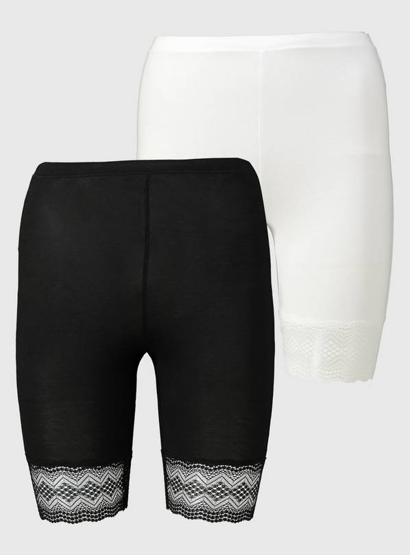 Black & White Biome Antibacterial Knicker Shorts 2 Pack - 20