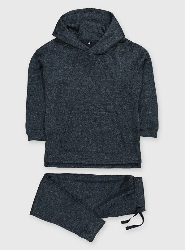 Navy Hooded Soft Knit Set - 4-5 years