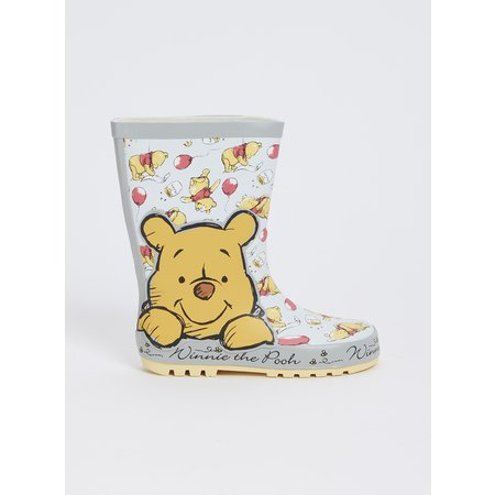 Disney Winnie The Pooh Silver Wellies - 10 Infant