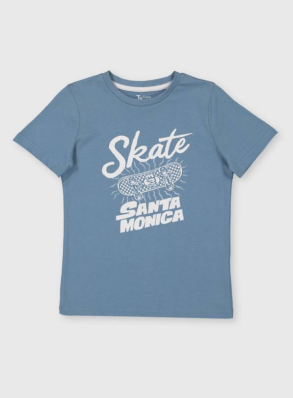 Blue Skateboard Graphic T-Shirt - 5 years