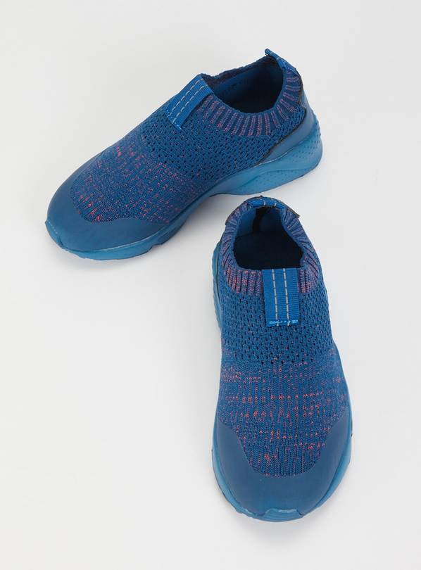 Blue Knitted Detail Trainer - 13 Infant