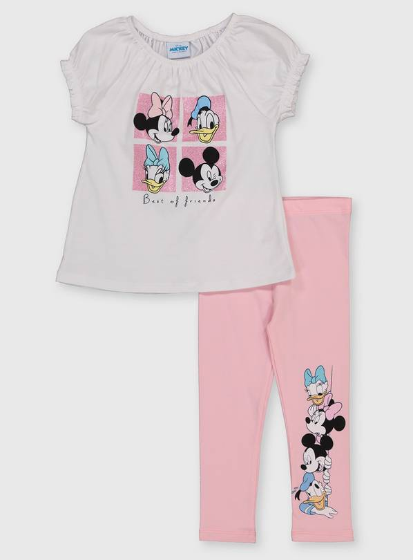 Disney Character Top & Pink Leggings - 1.5-2 years