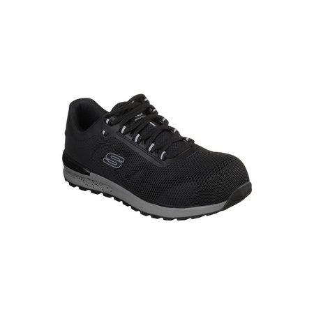 SKECHERS Black Bulklin Lace Up Safety Shoe - 7