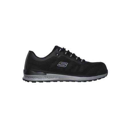 SKECHERS Black Bulklin Lace Up Safety Shoe - 8