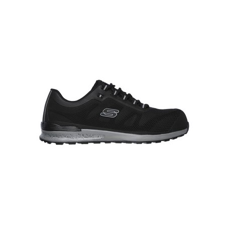 SKECHERS Black Bulklin Lace Up Safety Shoe - 11