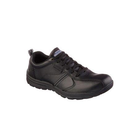 SKECHERS Black Hobbes Frat Lace Up Work Shoe - 11