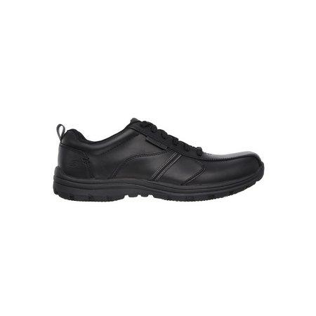 SKECHERS Black Hobbes Frat Lace Up Work Shoe - 12