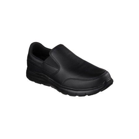 SKECHERS Black Flex Advantage SR Bronwood Slip On Shoe - 6