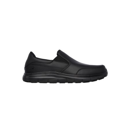 SKECHERS Black Flex Advantage SR Bronwood Slip On Shoe - 10