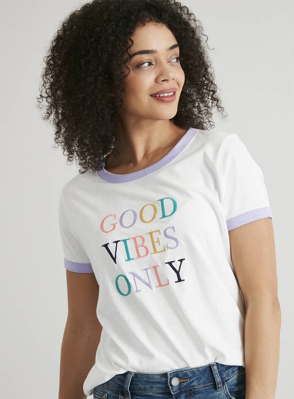 'Good Vibes Only' Slogan T-Shirt - 8