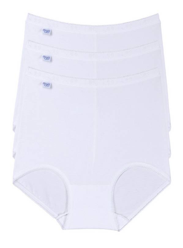 SLOGGI White Basic Maxi Knickers 3 Pack - 16