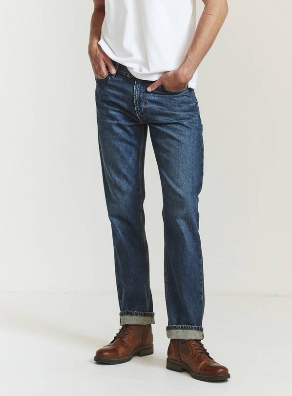 FATFACE Straight Mid Wash Jeans - W28 L32
