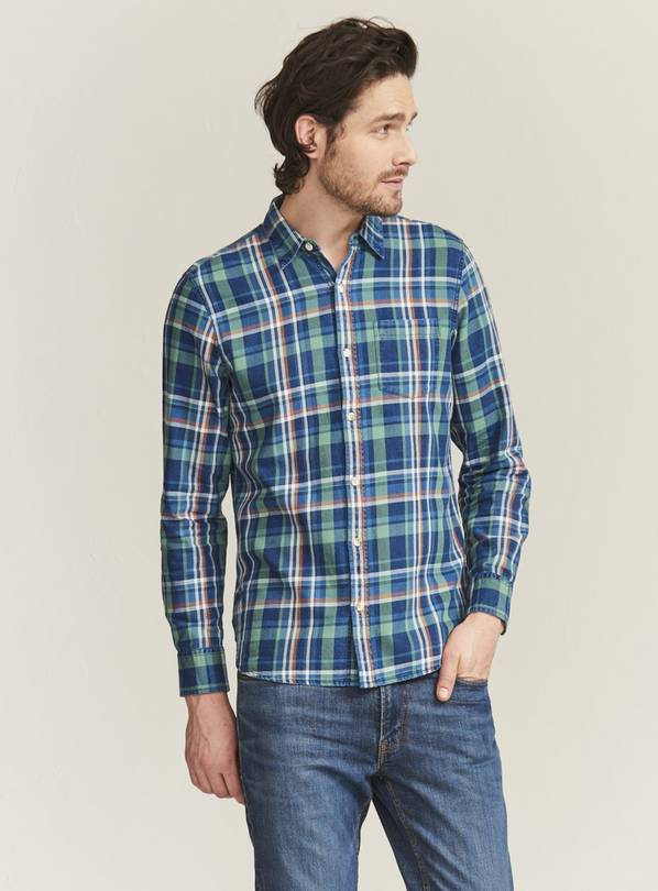FATFACE Green Netfield Check Shirt - XL
