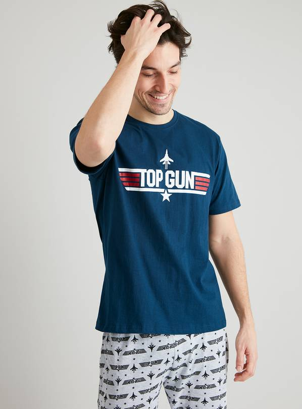 Top Gun Navy & Grey Full Length Pyjamas - XL