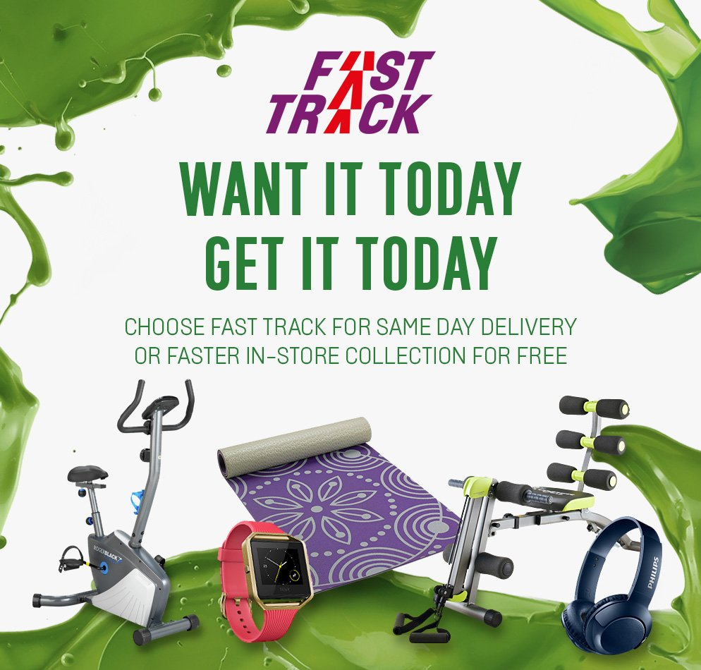 Want it today, get it today. Choose Fast Track for same day delivery or faster in-store collection for free.