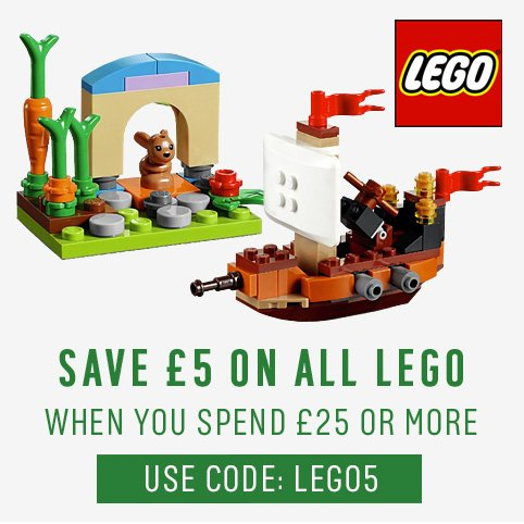 Spend £25 Or More And Save £5 On All LEGO Toys. Use Code