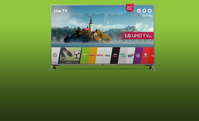 Our Lowest Prices On The LG Smart 4k TVs.