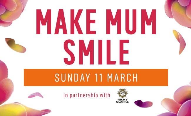 Make Mum smile. Gift something special. In partnership with Nicky Clarke.