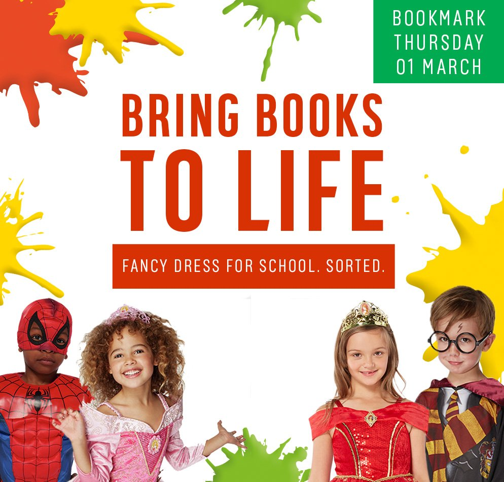 Bring books to life. Fancy dress for school. Sorted.