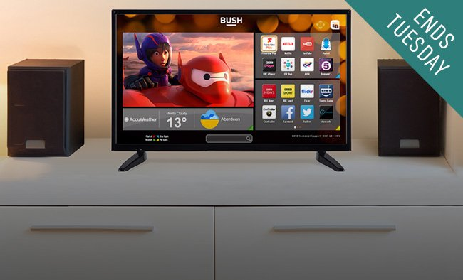Smart TVs from £139.99.