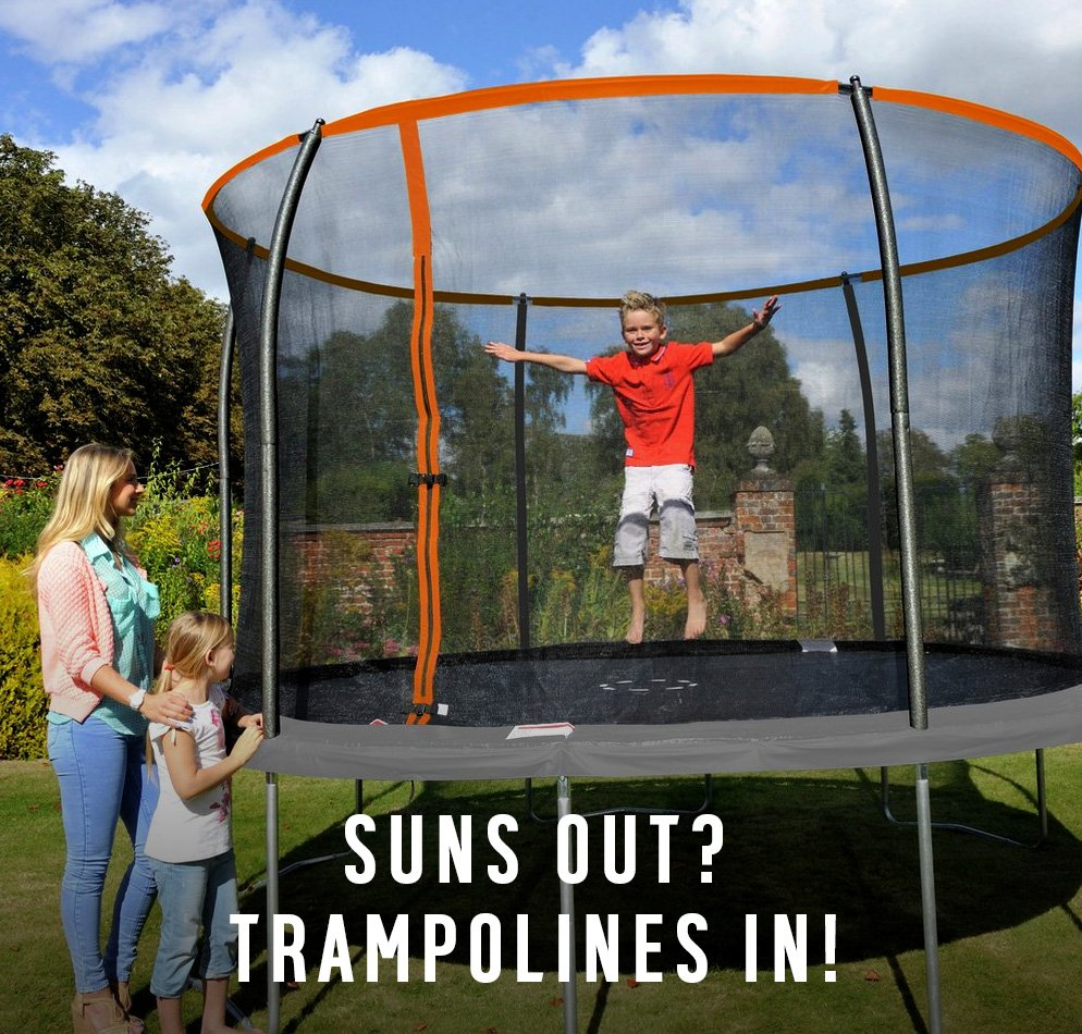 Suns out? Trampolines in!