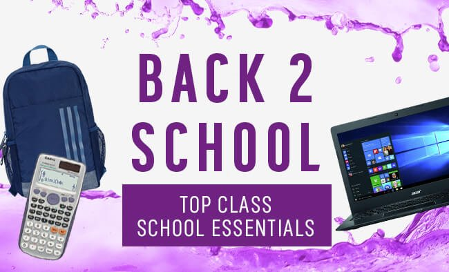 Back 2 school. Top class school essentials.