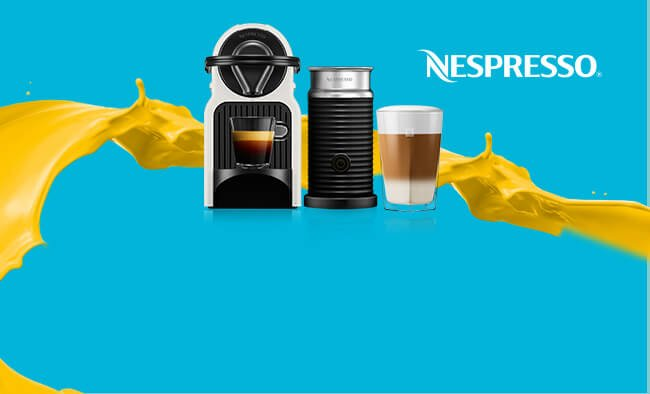 Free Aeroccino milk frother when you purchase a minimum of 150 grand cru capsules.