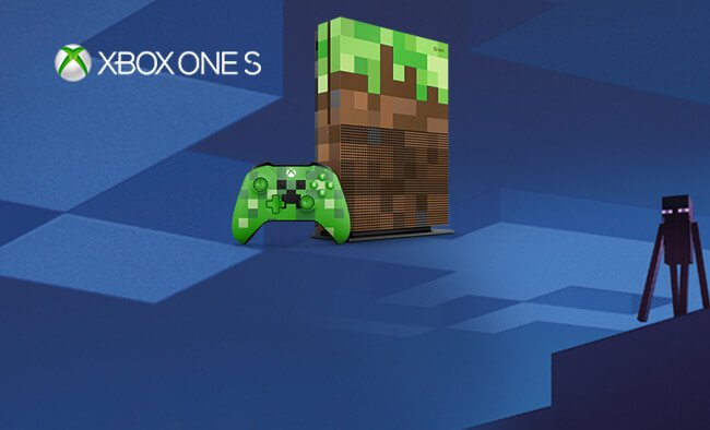 New Limited Edition Minecraft Xbox One S Exclusive to Argos. Pre-order now.