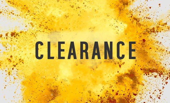 You never know what great prices you'll find in our Clearance range.