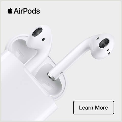 Apple AirPods. Learn more.
