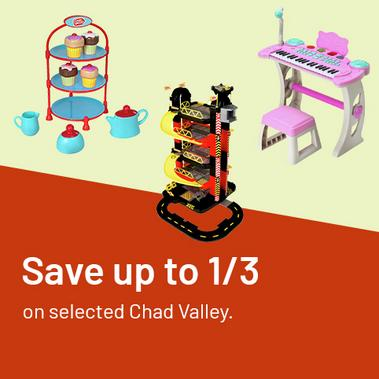 Save up to 1/3 on selected Chad Valley.