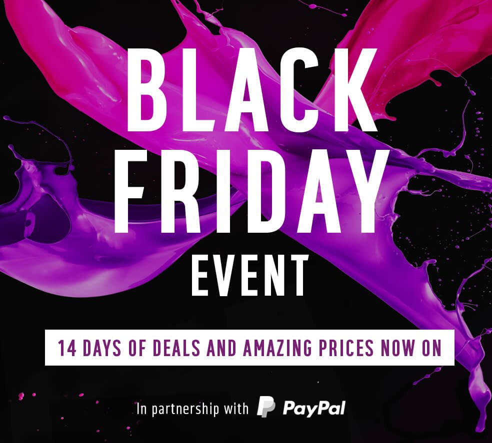 Black Friday Event - 14 days of amazing prices now on.