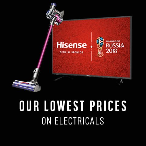 Shop our lowest prices on electricals.
