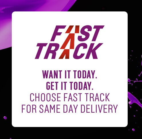 Choose Fast Track for same day delivery.