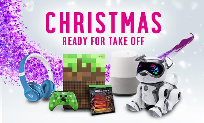 Choose from great gifts including Beats headphones, Minecraft, Google Home and more.