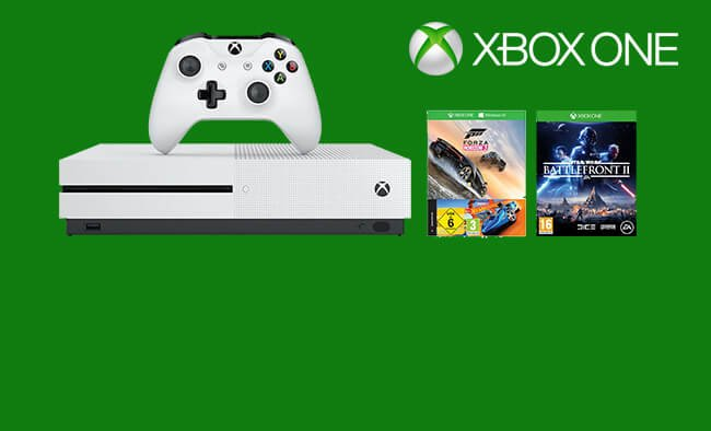 Xbox One S 500GB, Forza Horizon 3 and Star Wars Battlefront 2 only £199.99.