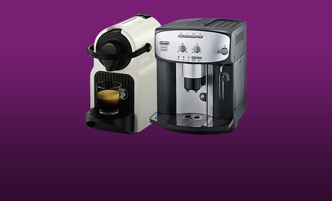 Save up to 20% on selected Coffee Machines.