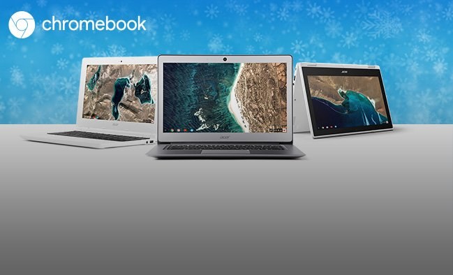 Meet Chromebooks, a new generation of laptops for work and play.