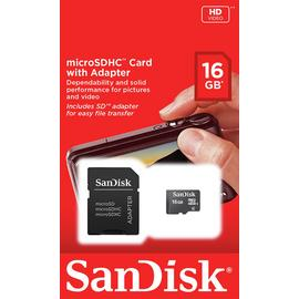 SanDisk Blue Micro SD Memory Card - 16GB
