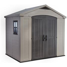 Keter Factor Apex Garden Storage Shed 8 x 6ft – Beige/Brown