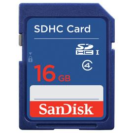 SanDisk Blue SD Memory Card - 16GB
