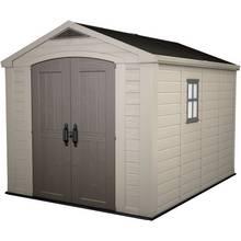 keter apex plastic beige brown garden shed 8 x 11ft - Garden Sheds Edinburgh