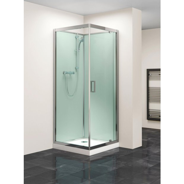 buy lavari 800mm glass pivot door shower enclosure tray. Black Bedroom Furniture Sets. Home Design Ideas