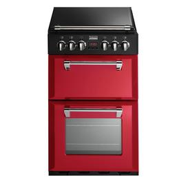Stoves Richmond 550DFW 55cm Dual Fuel Cooker - Red