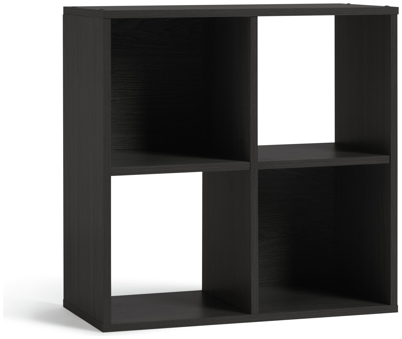 home squares 4 cube storage unit black