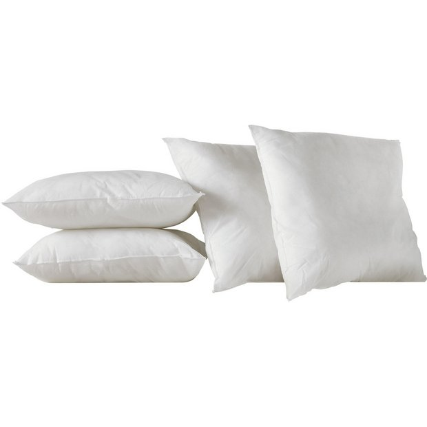 Buy Home Pack Of 4 Cushion Pads 43 X 43cm White At