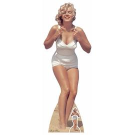 Star Cutouts Marilyn Monroe Swimsuit White Cardboard Cutout