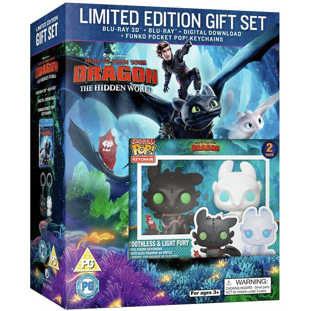 Buy How To Train Your Dragon 3 3d Blu Ray Limited Edn Keyring Dvds And Blu Ray Argos