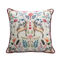 Argos Home Berry Christmas Stag Cushion